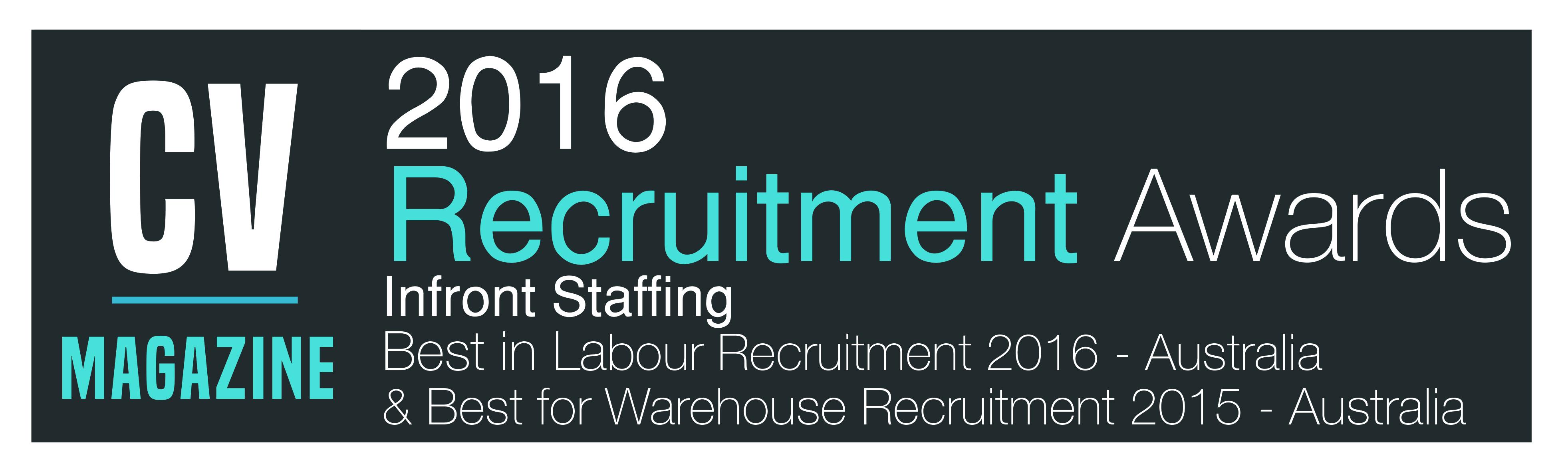 Infront Staffing-Recruitment Awards 2016 (RE160006) Winners Logo